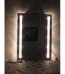 Illuminated bathroom crystal mirror Emotions 80 cm x 60 cm