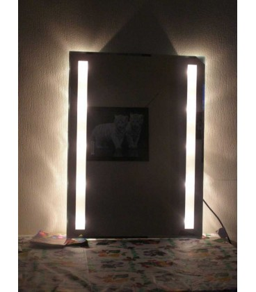 Illuminated bathroom crystal mirror Emotions   80 cm x 60 cm
