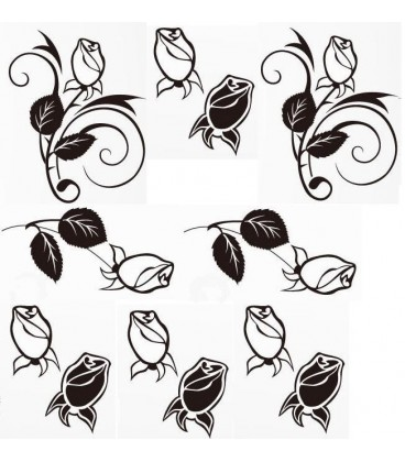 Rose flowers wall sticker for wall decoration.