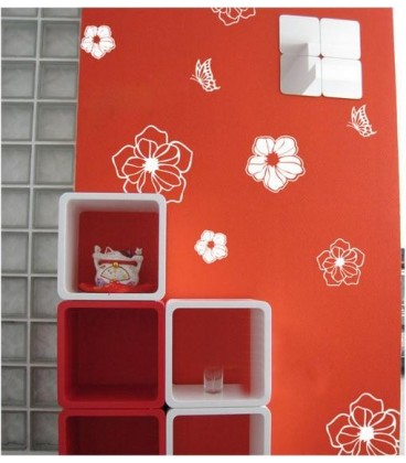 Peony flowers wall sticker for wall decoration.
