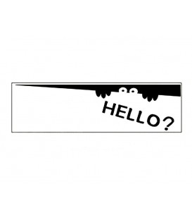 "'Hello"" Cartoon Decal Sticker (Black)"