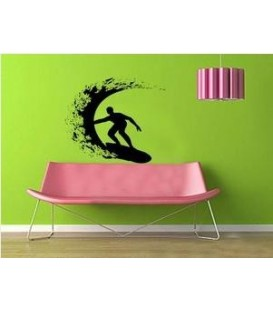 Surfer, decorative wall sticker.