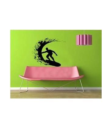 Surfer, decorative wall sticker.