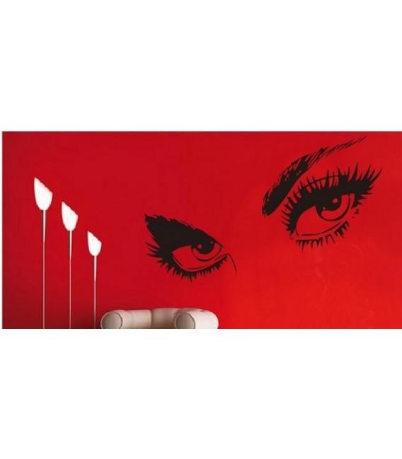 Audrey Hepburn 's eyes, vinyl wall stickers. Home decor.