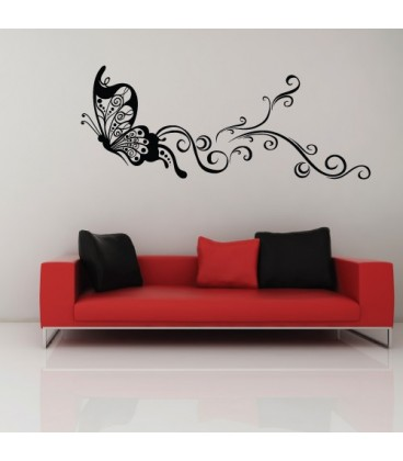 Flying butterfly, decorative art wall stickers.