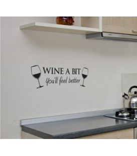 Wine a bit, decorative wall art stickers.