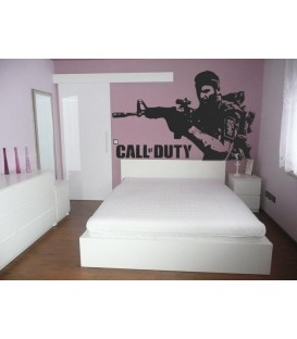 Soldier Call of Duty, game fans decorative wall sticker.