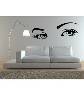 Audrey Hepburn 's eyes, vinyl wall stickers. Home decor.