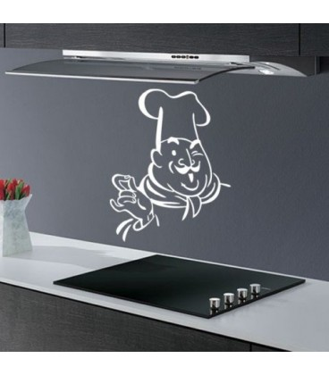 Happy cook, kitchen decorative wall sticker.