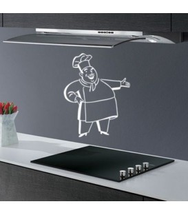 Happy cook, kitchen decorative wall sticker.