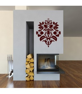 Floral pattern wall stickers.
