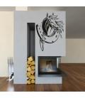 Horse and horseshoe, vinyl wall art sticker.