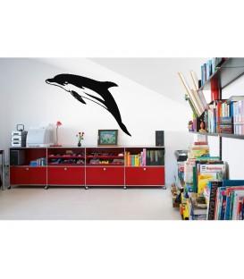 Dolphin vinyl wall sticker, dolphin wall decal.