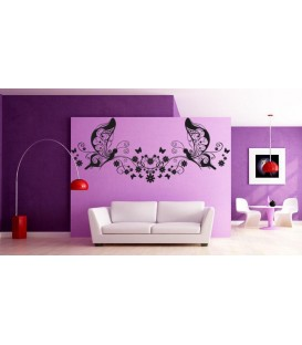 Art butterflies and wines, decorative art wall stickers for living room.