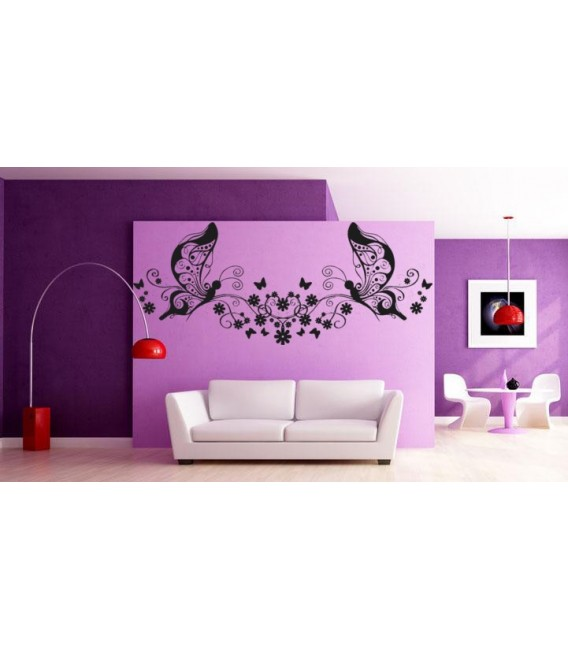 Art butterflies and wines, butterfly art wall stickers for living room.