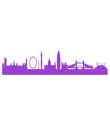 London Skyline PVC Wall Stickers