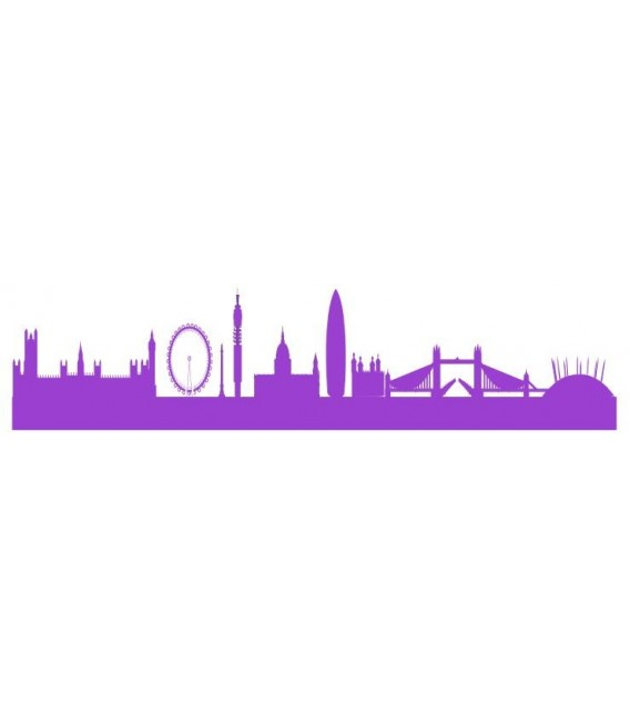 London Skyline PVC Wall Sticker