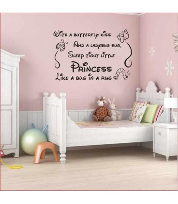 Art vinyl nursery baby decor girl princes wall decor.