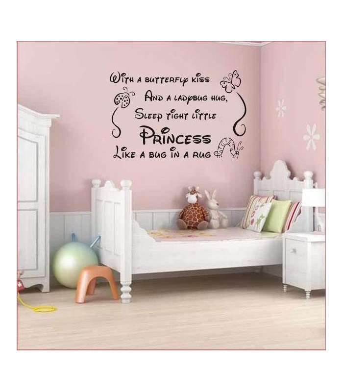 Nursery baby princes girl wall art sticker wall art decal for Baby name nursery decoration