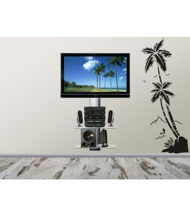 Beach coconut trees wall decal art decoration.
