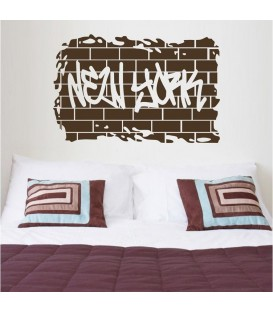 NEW YORK retro word quote wall sticker.