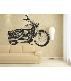 Vintage motorbike wall sticker, motocycle wall graphics.