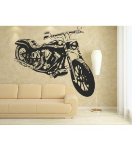Motorbike boys bedroom wall sticker, wall graphics.