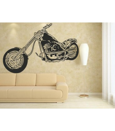 Motorbike wall decal boy bedroom motorcycle wall art sticker.