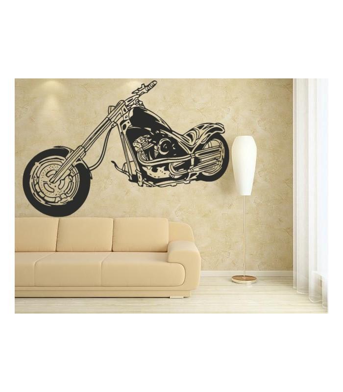 Motorbike wall decal boy bedroom motorcycle wall art sticker.
