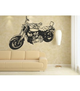 Motorbike boys bedroom sticker, wall art stickers.
