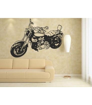 Motorbike wall decal boys bedroom large wall art sticker, bike decal.