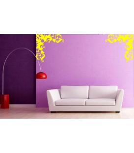 Flower border corner living room decorative wall sticker.