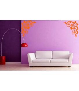 Flower wall decal living room wall sticker.