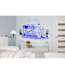 Thomas and friends engine wall decal boys bedroom personalized giant decorative wall art sticker, wall graphic.