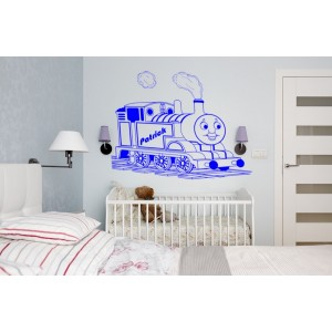 Thomas and friends engine wall decal boys bedroom personalized decorative wall art sticker.