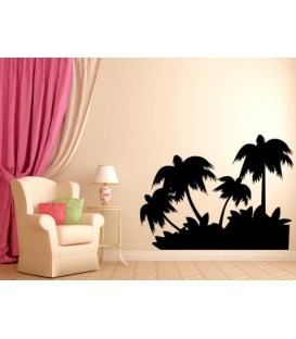 Coconut trees wall decal,waterproof vinyl stickers art decoration, coconut wall graphics.