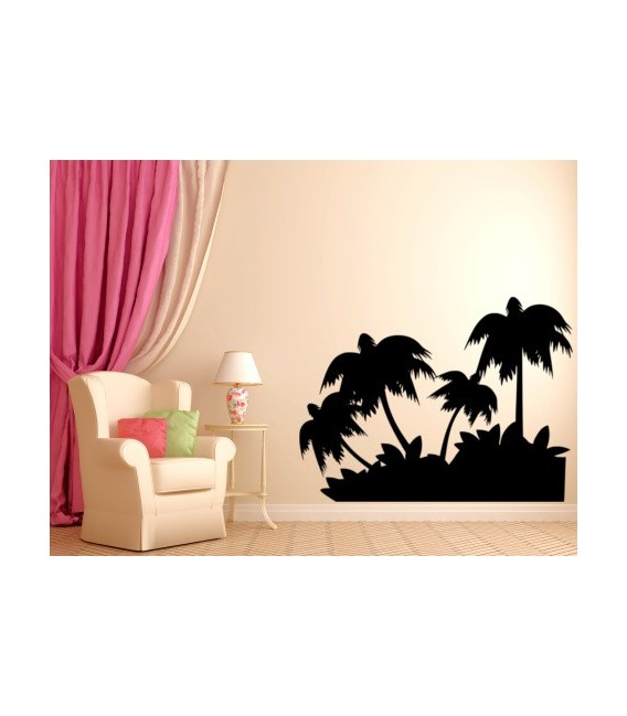 Coconut trees wall decal, waterproof vinyl stickers art decoration, coconut wall graphics.
