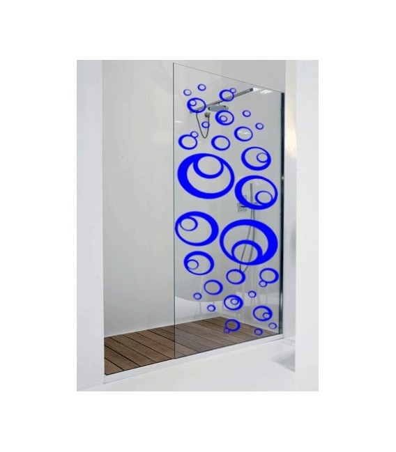 30 Bubbles window shower wall sticker, tile stickers, wall decals, bathroom stickers.