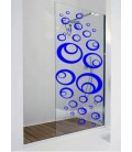 30 Bubbles window bathroom shower tile sticker.