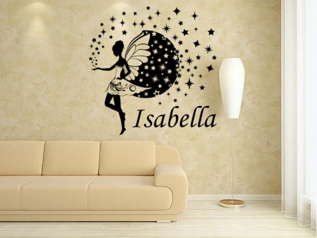 Fairy for girl bedroom decoration wall art sticker, fairy wall decal.