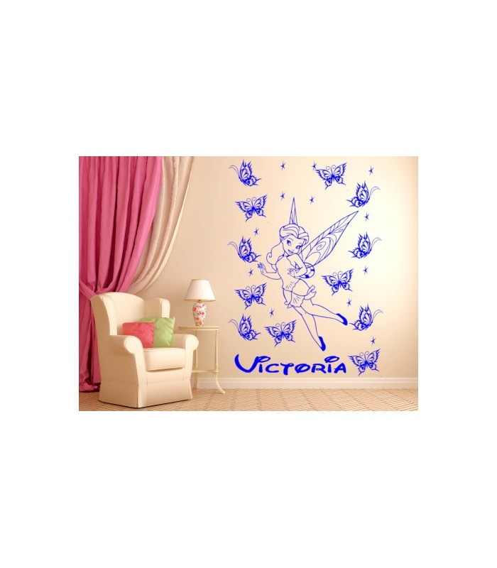 tinkerbell personalised girls bedroom wall sticker childrens transport vehicles cars wall stickers decals