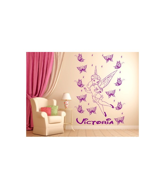 Fairy Personalised Girls Bedroom Wall Sticker Childrens Decals