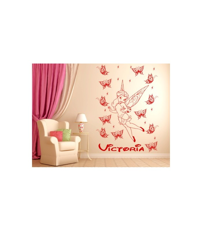tinkerbell personalised girls bedroom wall sticker wall stickers girls personalised bedroom nursery wall