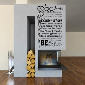 House Rules We ARE Family Quote sayings words home decor wall stickers art decals vinyl room decals.