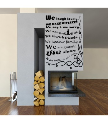 our house rules quote wall sticker we are family wall decal family quotes wall art stickers image quotes at relatably com