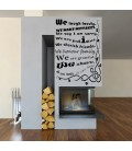 Our house Rules We ARE Family Quote words wall sticker.