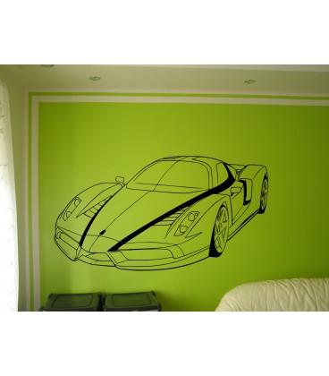 Wall art graphics Ferrari Enzo vinyl wall art sticker, Ferrari wall graphics.
