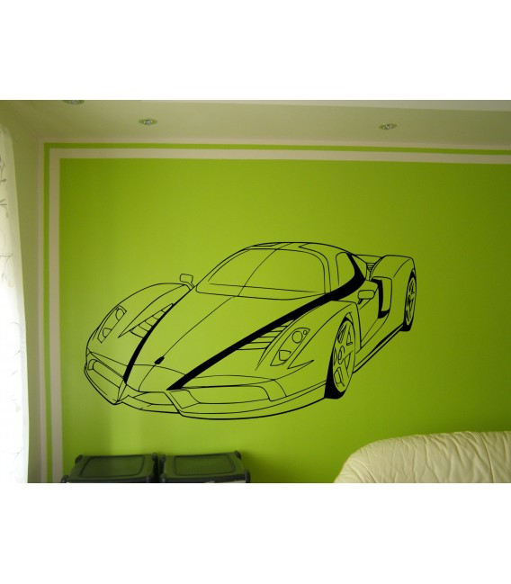 Wall art graphics Ferrari Enzo vinyl wall art sticker, Ferrari wall graphics.