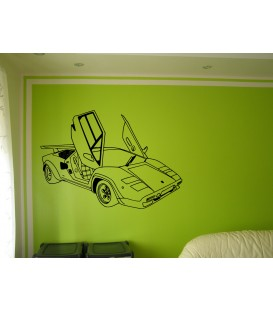 Ferrari wall sticker, Ferrari super car wall graphics for bedroom wall decoration.