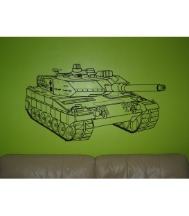 War tank wall sticker, Leopard tank wall graphics for bedroom wall decoration.